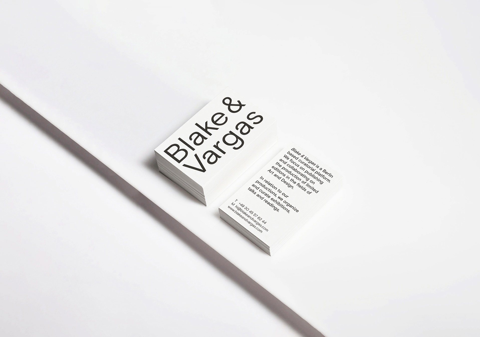 <p>Blake & Vargas – Space for Contemporary Culture – Visual Identity</p>