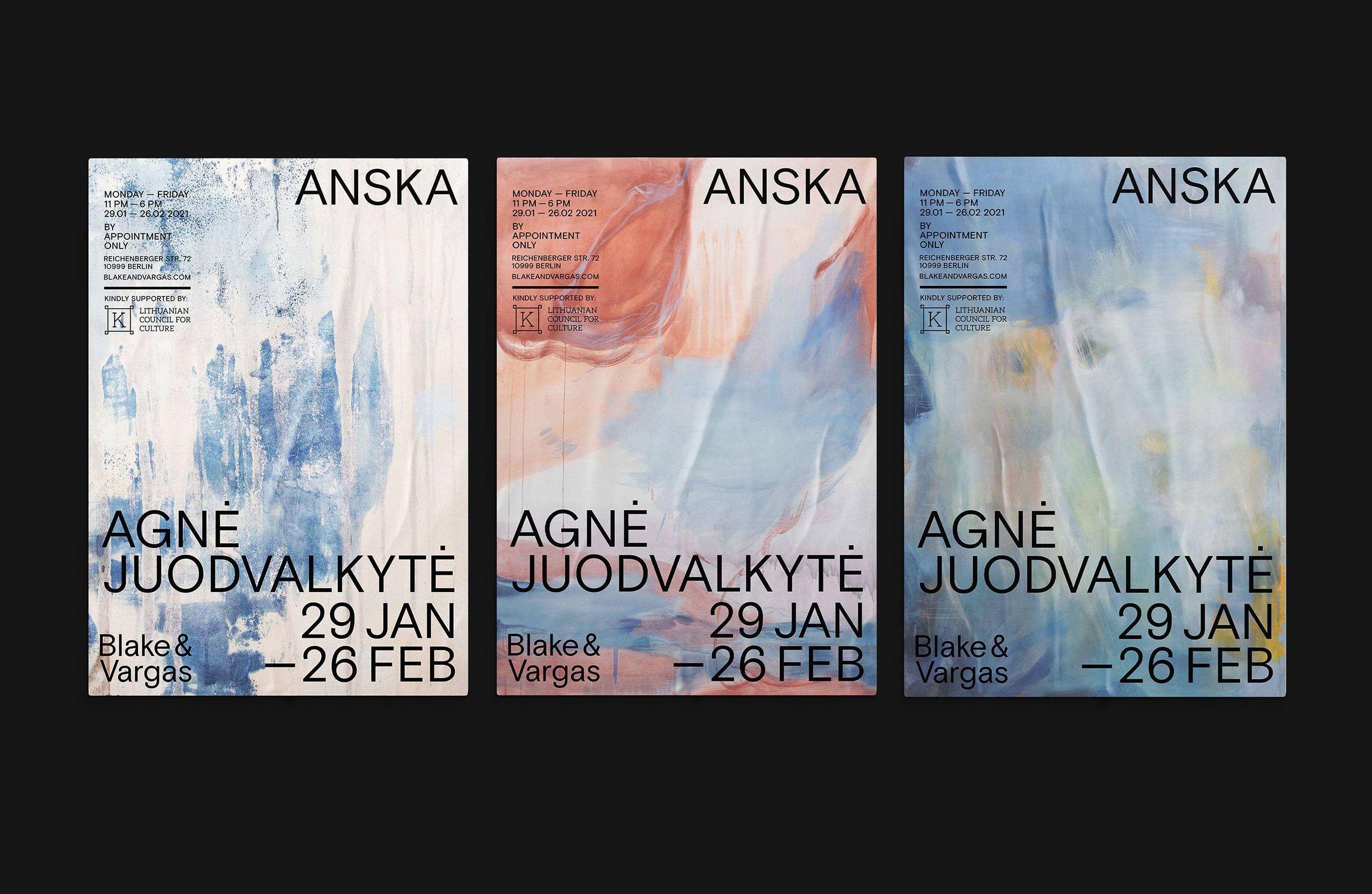 <p>ANSKA by <em>Agnė Juodvalkytė</em> – Poster Series</p>