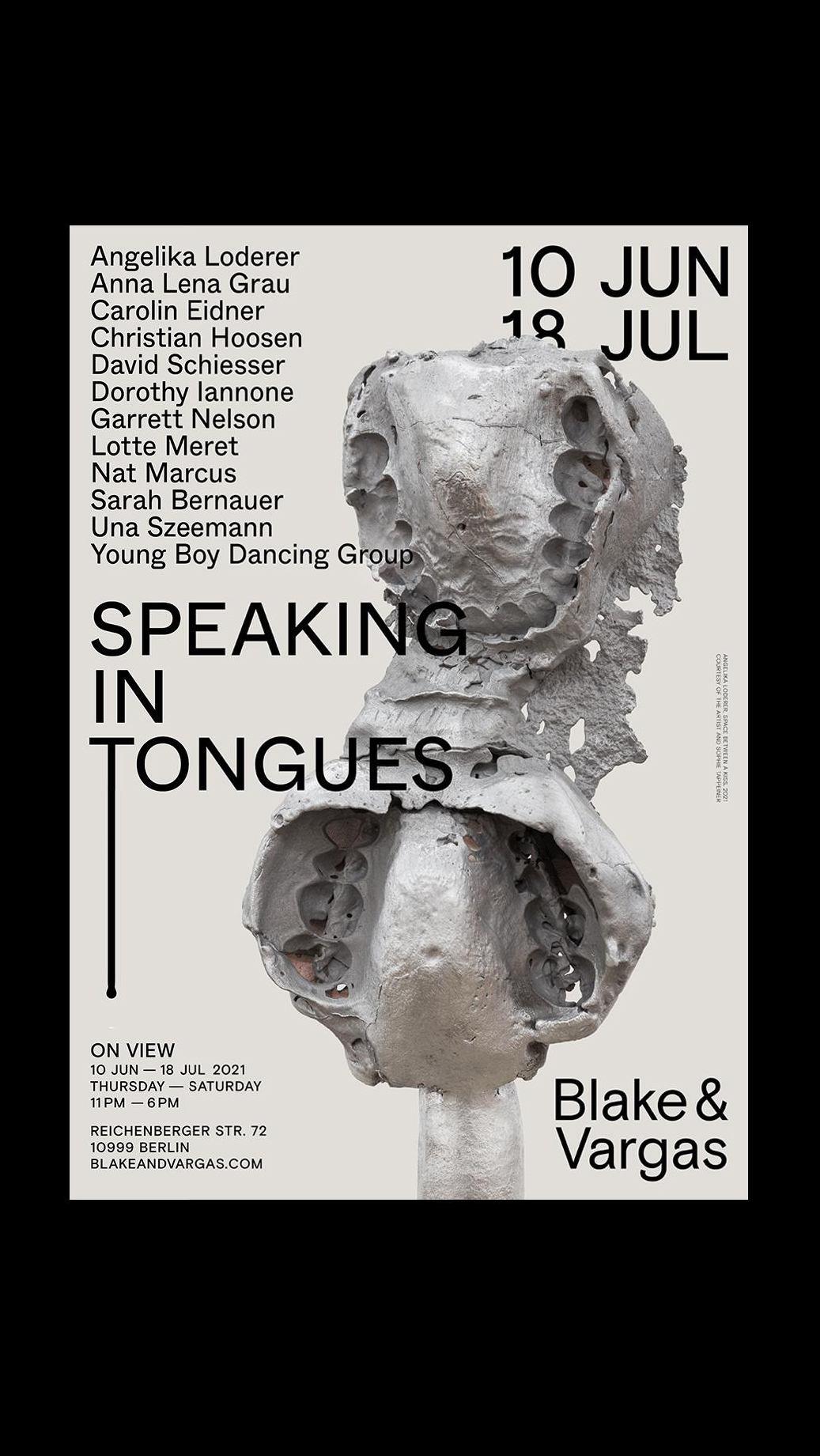 <p>Speaking in Tongues – Upcoming exhibition at Blake & Vargas</p>
